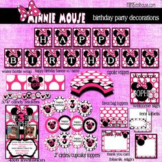 Minnie Mouse Birthday printables