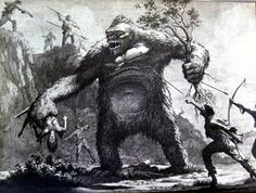 I have seen many concept art drawings from KING KONG, but this one was new to me.