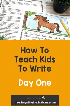 Get your kids writing with fun, engaging activities. These ideas are perfect if you are a parent trying to get your child to write at home or a teacher working in the classroom or through distance learning, Writing Lesson Plans, Writing Lessons, Kids Writing, Teaching Writing, Writing Activities, Teaching Kids, How To Teach Kids, Report Writing, Spring Activities