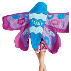 Flutterby Butterfly Hooded Towel