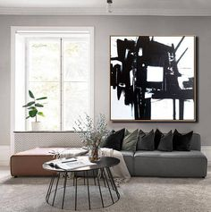 Large Abstract Painting Original Black And White Abstract Art Black Art Painting White Painting Canv Black And White Wall Art, Black And White Painting, Black And White Abstract, Black Art, Large Canvas Wall Art, Abstract Canvas, Painting Abstract, Your Paintings, Original Paintings