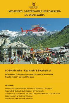 Kedarnath and_Badrinath Ji Heli Darshan Do Dham Yatra by Helicopter