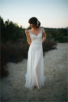 Maggie Sottero Ettia | Romantic Gatsby wedding shoot | Alyssa Michelle Photography | www.borrowedandblue.kiwi