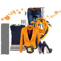 Have an orange day by this cool hijab outfit