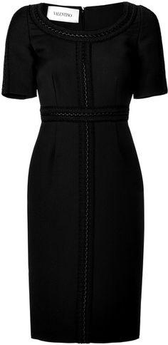 Valentino Black Woolsilk Sheath Dress