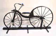 1839/1840 – Kirkpatrick Macmillan, blacksmith, of Dumfriesshire – claimed a rear wheel drive machine - the Velocipede, suitable chain was not available, so the bike was propelled by a foot treadle – long pushrods/swinglevers connected to crank pins on the rear axle, to get your feet off the ground. He claimed no patents.