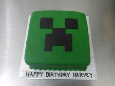 Minecraft Tree Creeper Face Birthday Cake from Crumbs Sheffield Abbey Lane
