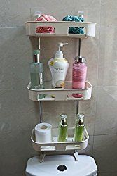 exilot Standing Rack Bathroom Organizer, Over the Toilet Storage, Kitchen Countertop Spice Jars Bottle Shelf Holder. Organize Bathroom Countertop, Bathroom Countertops, Bathroom Shelves, Bathroom Storage, Entryway Furniture, Home Office Furniture, Bathroom Furniture, Spice Organization, Bathroom Organisation