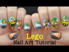 Lego Nail Art Tutorial | Roadworks! http://www.naileditnz.com/2014/04/lego-nail-art-roadworks.html