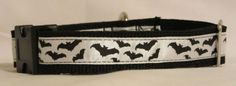 Adjustable Dog CollarHalloween Bats by HandmadeInTheHammer on Etsy, $15.00