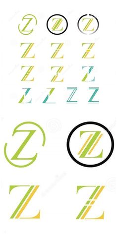 Illustration about Set of different Z logo symbols. Illustration of geometry, decoration, classic - 59325193 Letter Symbols, Letter Logo, Graphic Design Illustration, Logo Design, Branding, Lettering, Icons, Illustrations, Tags