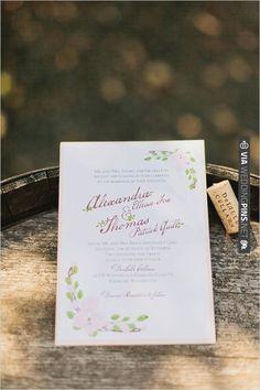 romantic wedding invites by Invitation Solutions | VIA #WEDDINGPINS.NET