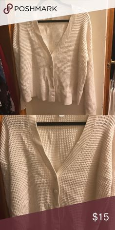 White Cardigan Comfortable and chic. Forever 21 Sweaters Cardigans