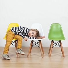 Gorgeous. Might buy a couple & a matching table if budget allows   Replica Charles & Ray Eames  Replica Kids Eiffel DSW Chair
