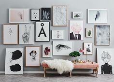 Such a beautiful wall of art from @norsuinteriors. - happy to see some #papercollective designs up there