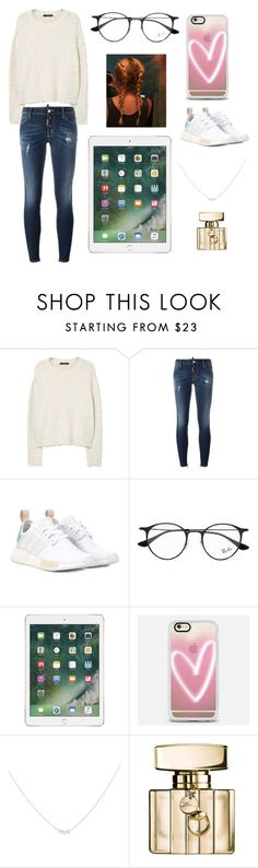 """""""Sans titre #3588"""" by merveille67120 ❤ liked on Polyvore featuring MANGO, Dsquared2, adidas Originals, Ray-Ban, Casetify, Accessorize and Gucci"""