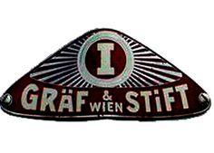 La marque de voitures Autrichienne Gordon Graf et Stift fut fondée en 1895 pour produire des véhicules automobiles jusqu'en 1938. Automobile, Graf, Juventus Logo, Badges, Team Logo, Logos, Collector Cars, Vintage Cars, Economics