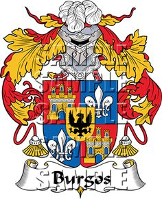 Burgos Family Crest apparel, Burgos Coat of Arms gifts