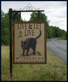 Pub sign - Bringsty, Worcestershire, England