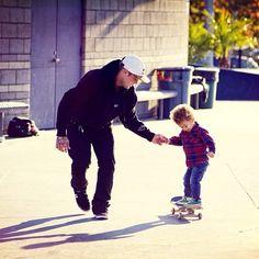 Ryan Sheckler teaching Robert how to skate. *.*