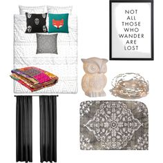 bedroom by rach-carswell on Polyvore featuring polyvore interior interiors interior design home home decor interior decorating Dot & Bo H&M Donna Wilson Softline Home Fashions bedroom