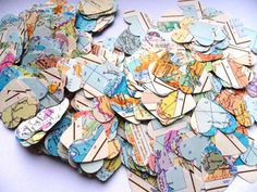 map confetti?.. To spread on the tables?