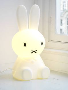 Giant Miffy floor lamp. I kind of want one for my future home office/den.