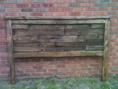 Rustic King Size Recycled Pallet Headboard by HandBuiltbyTyler