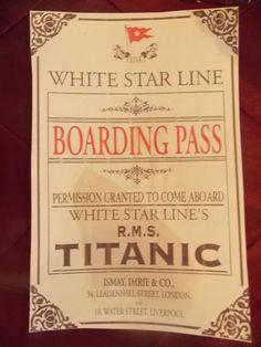 Invite for a titanic party