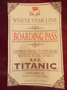 Invite for a titanic party