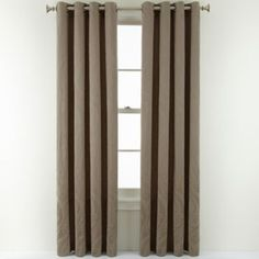 Royal Velvet® Whittier Grommet-Top Curtain Panel  found at @JCPenney white