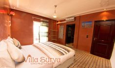Villa Surya - Room Amlal ensuite bathroom and ocean view balcony - treat yourself Yoga holidays Morocco