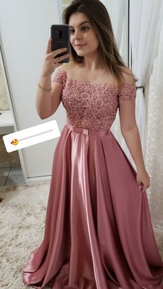 Off Shoulder Long Satin Lace Prom Dress with Beadings Custom Made Beaded School . - Off Shoulder Long Satin Lace Prom Dress with Beadings Custom Made Beaded School Dance Dresses Fahion Long Graduation Party Dresses Source by amel_fahmi - Fancy Prom Dresses, Grad Dresses, 15 Dresses, Formal Evening Dresses, Ball Dresses, Pretty Dresses, Homecoming Dresses, Beautiful Dresses, Teen Graduation Dresses