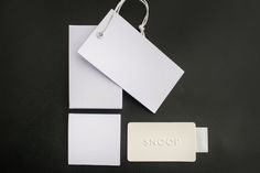 Black and White for basic accessories! Hangtag, label and trouser patch.
