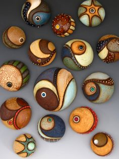 Most up-to-date Free of Charge Ceramics projects abstract Ideas meagan-chaney-mini-ceramic-sculpture-clay-abstract-fine-art-river-arts-district Stone Crafts, Rock Crafts, Fun Crafts, Crafts For Kids, Arts And Crafts, Crafts With Rocks, Nature Crafts, Pebble Painting, Pebble Art