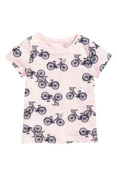 Top met print - Lichtroze/fietsen - KINDEREN | H&M NL 1