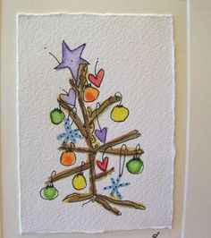 ee cummings little tree is artistic inspiration for us. Get extr… – Christmas DIY Holiday Cards Watercolor Christmas Cards, Diy Christmas Cards, Watercolor Cards, Christmas Art, Handmade Christmas, Painted Christmas Cards, Simple Watercolor, Christmas Drawing, Watercolor Trees
