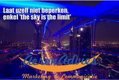 AeronAdvies - laat uzelf niet beperken. Alleen 'The sky is the limit'.