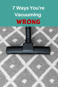 Vacuum Cleaning Tip: Empty the filter bag when it's two-thirds full for fresher and cleaner carpets.