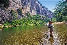 Fly-fishing the White River