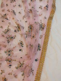 Sabyasachi inspired Pink Net saree