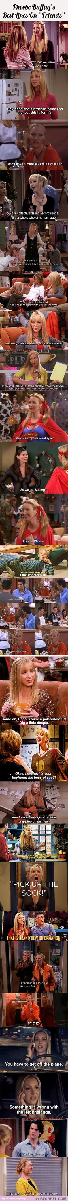 "19 Of Phoebe Buffay's Best Lines On ""Friends""…:"