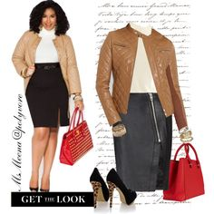 """""""Work it Girl! ~Plus Size ~ Get The Look"""" by msmeena on Polyvore"""
