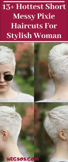 Hottest Short Messy Pixie Haircuts For Stylish Woman Messy Pixie Haircut, Long Pixie Hairstyles, Pixie Haircuts, Short Pixie, Pixie Cut, Hot Shorts, Aliens, Haircolor, Short Hair Styles