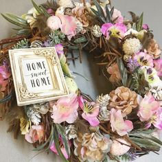 Floral Wreath, Sweet Home, Wreaths, Home Decor, Floral Crown, Decoration Home, House Beautiful, Door Wreaths, Room Decor