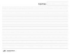 horizontal writing paper for classrooms