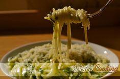 Paste cremoase cu usturoi si spanac un pranz rapid si delicioas.