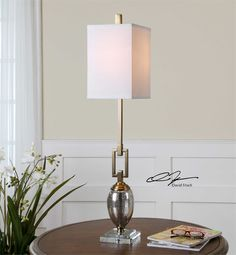 Parish Buffet Table Lamp Gilded Iron