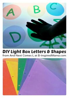 Making Kids Light Box Manipulatives [Contributed by And Next Comes L] Homemade Kids Light Box Manipulatives from And Next Comes L at B-Inspired Mama Sensory Activities, Sensory Play, Sensory Table, Autism Activities, Autism Resources, Educational Activities, Reggio Emilia, Diy Light Table, Light Board