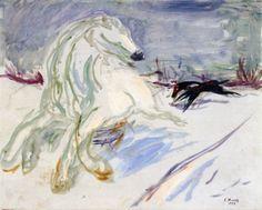 Galloping White Horse Edvard Munch - 1928
